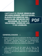 Capítulo VI - Flujo vehicular.pptx