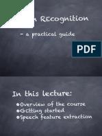 Lecture 1 Kaldi