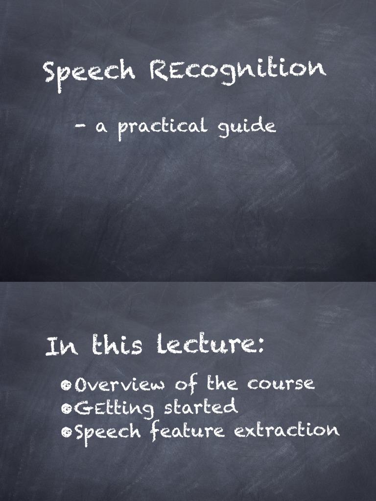 Lecture 1 Kaldi | Areas Of Computer Science | Tecnología