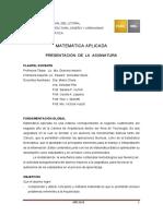 MATEMATICA APLICADA  2015