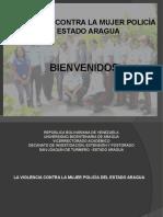Presentación de TESIS Transgresión contra mujeres policías en el estado Aragua