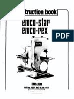 Instruction Book Emcostar-emcorex