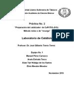 Reporte de Laboratorio Practica No.2 Laboratorio de Catalisis Eq. 1