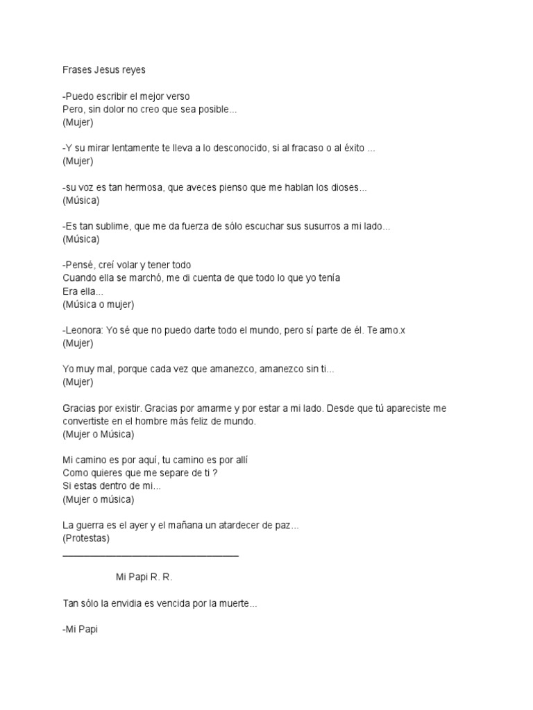 Frases Jesús Reyes