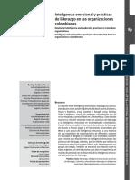 Zárate, T. y Matviuk, S. (2012). Inteligencia Emocional y Prácticas de Liderazgo