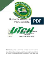 Unidad IV Introducción al mantenimiento Garcia Cesar.docx