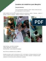 Coletânea Com 6 Modelos de Relatórios Para Berçário