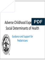 Adverse Childhood Experience, Social Determinants of Health