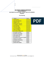 Math Final Ranking