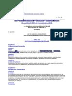 Ley Del Servicio Comunitario Del Estudiante de Educación Superior