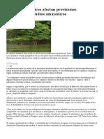 Cambios Climáticos Afectan Previsiones Astrológicas de Indios Amazónicos