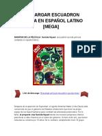 Descargar Pelicula Escuadron Suicida en Español Latino [MEGA]