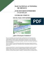 Temario Excel Avanzado Contadores y Administradores