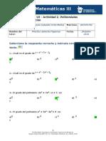 MIII – U3 – Actividad 2. Polinomiales