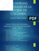 Las Normas Procesales de La Historia de Colombia