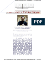 Entrevista a Fabio Zanón, Por Adriana Tessier