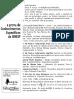 Anglo Resolve UNESP - Biologia Química Física Matemática História Geografia Português