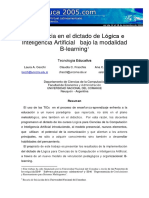 Dictado de Logica e Inteligencia Artificial Con B-learning