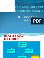 Use of SPSS (Example)