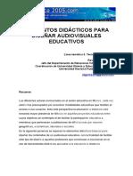 Elementos Didacticos en Diseño Audiovisuales