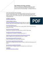 alphabetical list of websites