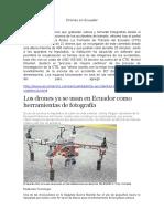 Drones en Ecuador