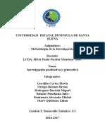 1.3.- Investigacion Productiva y Generativa