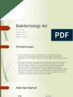 Bakteriologi Air PPT