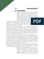 30 .1-O Pensamento Pedagógico Brasileiro