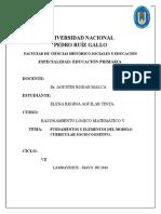 Fundamento y Elementos Del Modelo Curricular Sociocognitivo