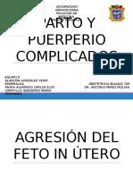 Exposicion Parto y Puerperio Complicados Obstetricia
