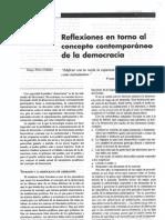 Reflexiones en Torno Al Concepto Democracia