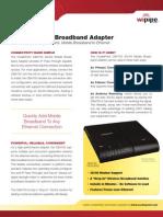 CradlePoint CBA750 DataSheet