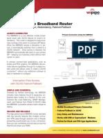 CradlePoint MBR800 DataSheet
