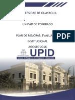 Plan de mejoras UPID