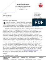 new letter to parents with letterhead