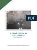 Ciclo de Minado Subterraneo