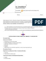 Certificación de Estado Jurídico Del Inmueble y de Inscripción