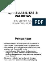 Uji Reliabilitas & Validitas, Regresi