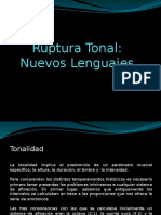 Ruptura Tonal.nuevos Lenguajes