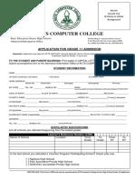 SHS Application for Grade 11