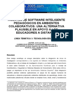 Agentes Software Inteligente Pedagogicos