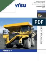 Volquete HD785-7 komatsu