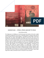 KOGON PLAN (Literary Critical Review)