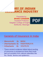 Hisorical Evolution of Indian Insurance Industry