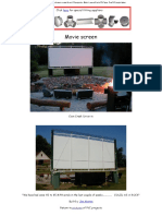 Build a PVC Back Yard Movie Screen for LCD Projector