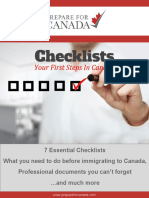 Know Before You Go - Canada Checklists