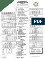 School Calendar (2016-2017)