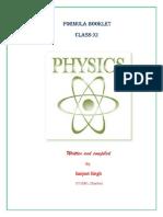 Physics Formula Booklet XI