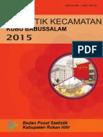 Statistik Kecamatan Kubu 2015